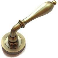 Wrexham Lever Door Handle - Matt Antique Brass Finish
