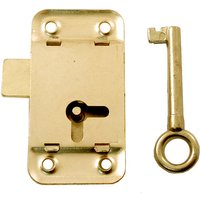 Wardrobe Key Lock Brassed 63mm