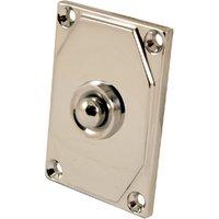 Art Deco Design Polished Chrome Door Bell 63x43mm