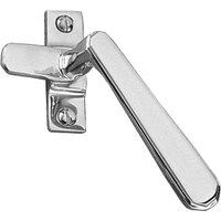 Art Deco Design Polished Chrome Window Handle Fastener Hook RH