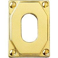 Art Deco Design Oval Keyhole Cover 63x43mm