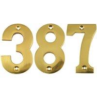 Heritage C1566 Brass Screw Fix Door Numerals 0-9 76mm