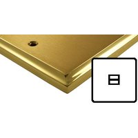 Mayfair Dual Style Brass Electrical 1G Telephone Master Socket