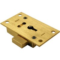 Brass Straight Cabinet Lock 2 Lever 64mm