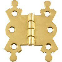 Decorative Hinge 1.5/8in Electro Brassed in Pairs