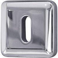 Bright Chrome Square Escutcheon 50mm