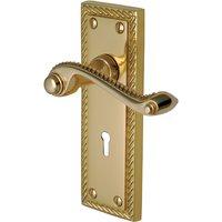 Heritage G040 Georgian Brass Lever Lock Door Furniture