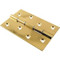 Polished Brass Door Hinges Steel Washered 102x67x2.2mm in Prs
