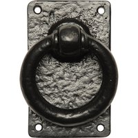 Kirkpatrick 717 Black Antique Style Ring Gate Latch Handle