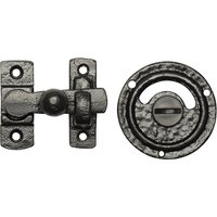 Black Antique Ironwork Bathroom Door Bolt 1150