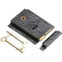 Black Antique Ironwork Rim Lock Set Left Hand 1204