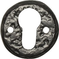 Black Antique Ironwork EURO PROFILE Keyhole Cover 1401