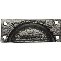 Black Antique Ironwork Drawer Pull 89mm 1549
