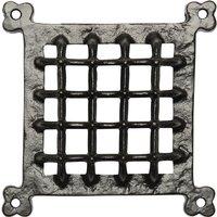Black Antique Ironwork Square Door Grille 165x165mm 2176