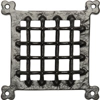Black Antique Ironwork Square Door Grille 304x304mm 2176