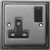 Black Hammered Finish Single Wall Socket 5117