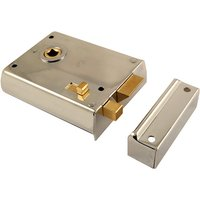 Chrome Rim Latch With Slide Action Latch