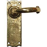 Antique Cast Brass Range Latch Door Handle Set 152x47mm 2451