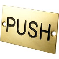 Brass Engraved Sign Push 75x40mm