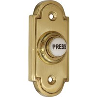 Brass Door Bell 76x33mm Ceramic Press