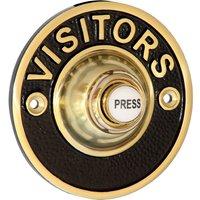 Brass/Black 81mm Visitors Door Bell
