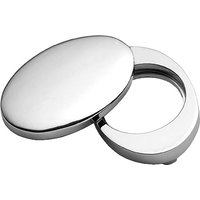 Chrome Plain Front Door Cylinder Cover Plate