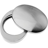 Polished Pewter Cylinder Cover 38x54mm