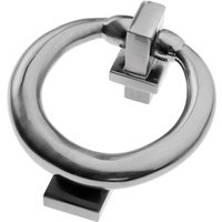Polished Pewter Ring Door Knocker 114mm