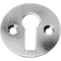 Polished Pewter Open Escutcheon