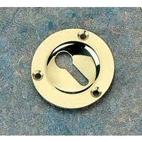 Brass Unlacquered Circular Key Hole Cover 43mm