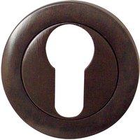 Dark Bronze Euro Cylinder Cover 50mm