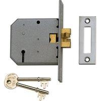 Mortice Lock For Sliding Doors 77.5mm Matt Chrome