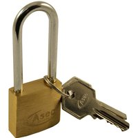 Solid Brass 30mm Extended Shackle Padlock