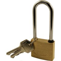 Solid Brass 40mm Extended Shackle Padlock
