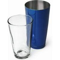 Click to view product details and reviews for Professional Boston Cocktail Shaker Blue Tin Glass Set.