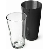 Click to view product details and reviews for Professional Boston Cocktail Shaker Black Tin Glass Set.