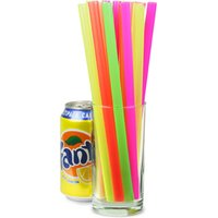 Click to view product details and reviews for Mega Jumbo Neon Straws 9inch Pack Of 200.