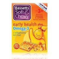 Bassett's Early Health Plus Omega 3 + Vitamins ACD&E Orange & Lemon 30 pastilles