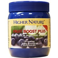Higher Nature Fruit Boost Plus(formerly Easy 3) 225g veg pdr