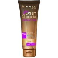 Rimmel Sun Shimmer Instant Tan Water Resistant - Light Matte 125ml