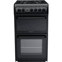 Hotpoint HAG51K 50cm Freestanding Gas Cooker in Black with FSD
