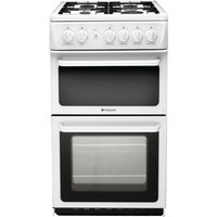 Hotpoint HAG51P Gas Cooker  White