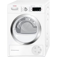 Bosch WTW87560GB 9Kg Condenser Tumble Dryer with Heat Pump in White