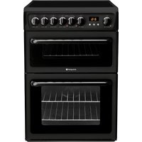 Hotpoint HAE60KS 60cm Freestanding Electric Cooker Black