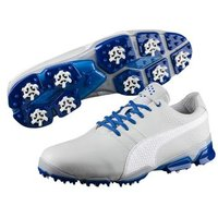 Puma TitanTour Ignite Golf Shoe Grey Violet Puma White True Blue UK 75