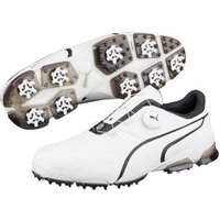 Puma Titan Tour IGNITE Disc Golf Shoes - White / Black UK 7 Standard