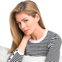 EP Pro Ladies Monte Carlo 3/4 Sleeve Striped Sweater