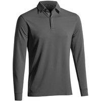 Mizuno Breath Thermo Long Sleeve Polo Shirt - Grey