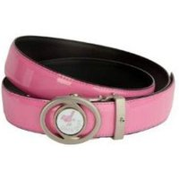Girls Golf Adjustable Length Belt Pink