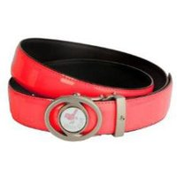 Girls Golf Adjustable Length Belt Rose Red
